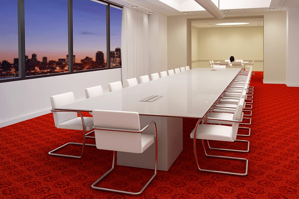 Fulbright white-glass-boardroom-table